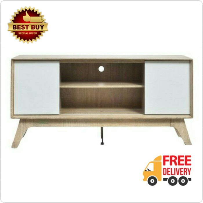 harga [free ongkir] meja tv / rak tv modern minimalis white glossy 120 cm Tokopedia.com