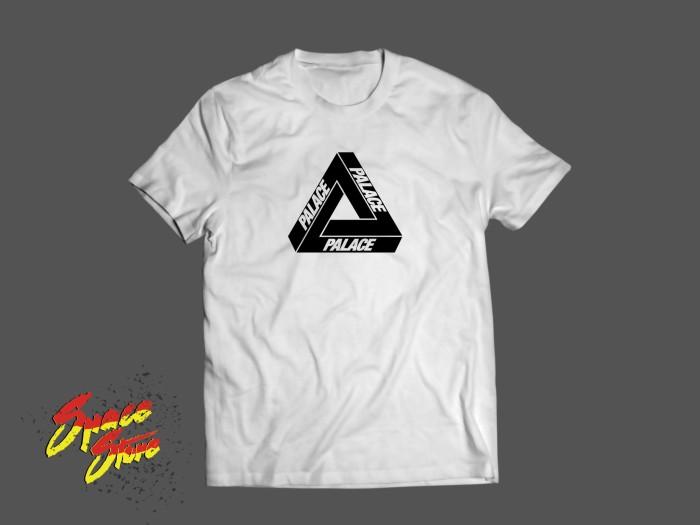 Jual Baju Kaos Street Wear Palace Triangle Logo Keren Simpel Kab