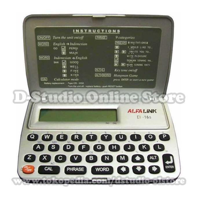 Alfalink Electronic Dictionary EI-16S / Kamus Elektronik / Digital