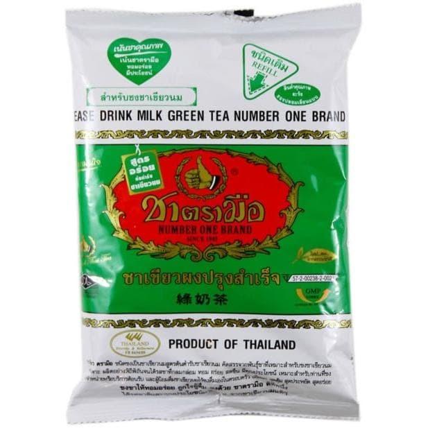 PAKET THAI TEA ORIGINAL & GREEN TEA NUMBER ONE CHATRAMUE BRAND