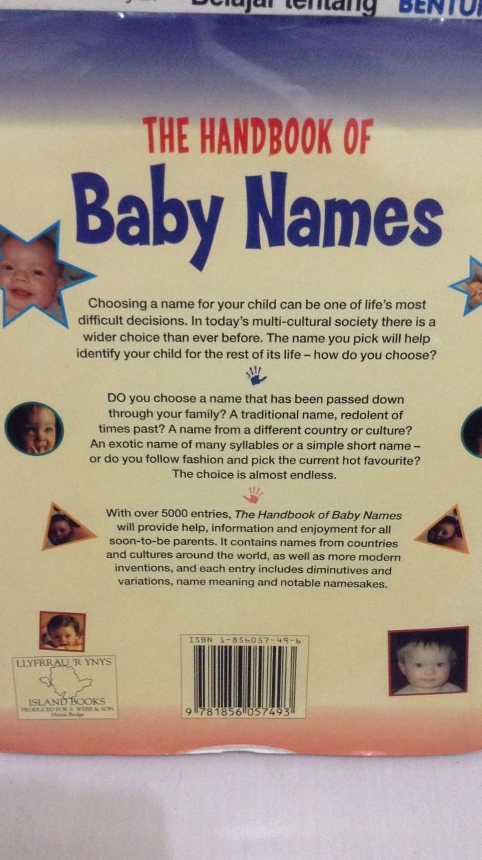 Jual The Handbook of Baby Names - Clare Gibson - Bukuku Bukumu | Tokopedia
