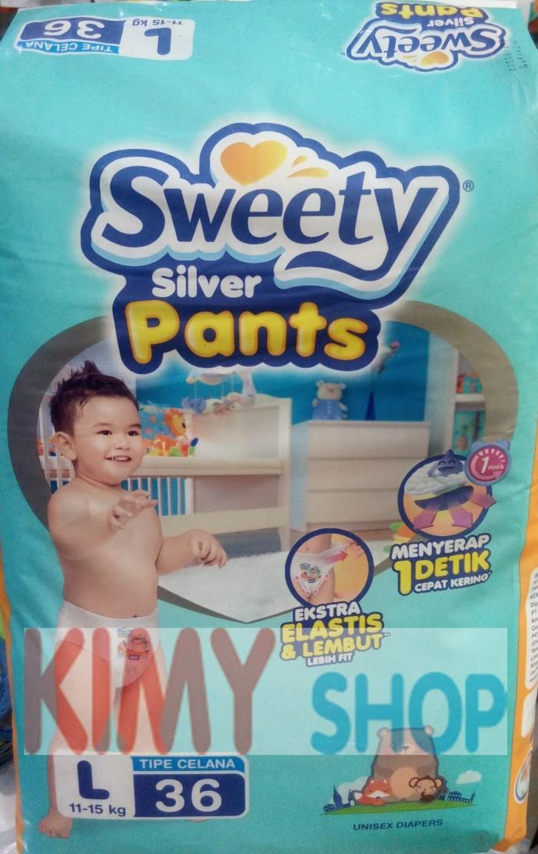 Popok celana bayi sweety silver pants l 36