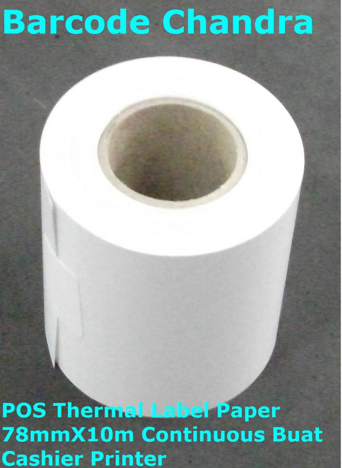 harga Pos thermal label paper 78mmx10m continuous buat cashier printer Tokopedia.com