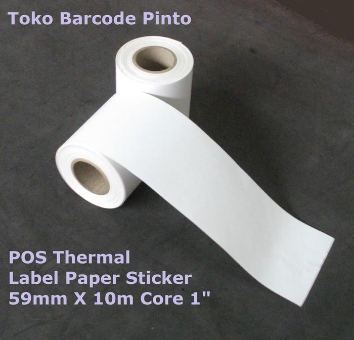 harga Pos thermal label paper 59mm x 10m continuous buat cashier printer Tokopedia.com