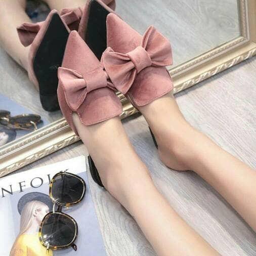 harga Sepatu wanita flatshoes selop pita cantik salem / murah wanita Tokopedia.com
