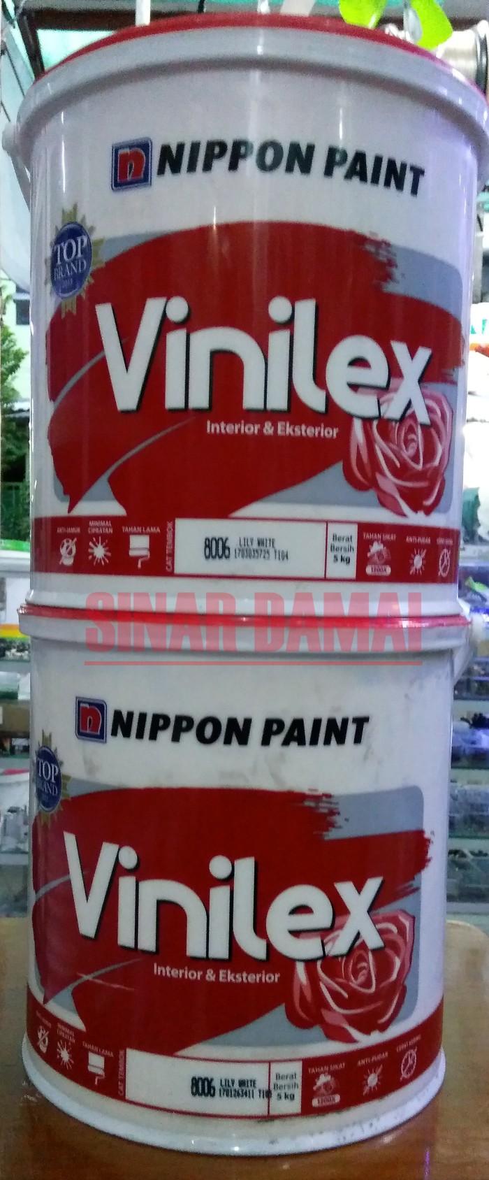 harga Cat tembok vinilex 5 kg no 8006 warna lily white Tokopedia.com