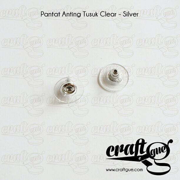 Foto Produk Pantat Anting Tusuk Clear-Silver dari Craftgue