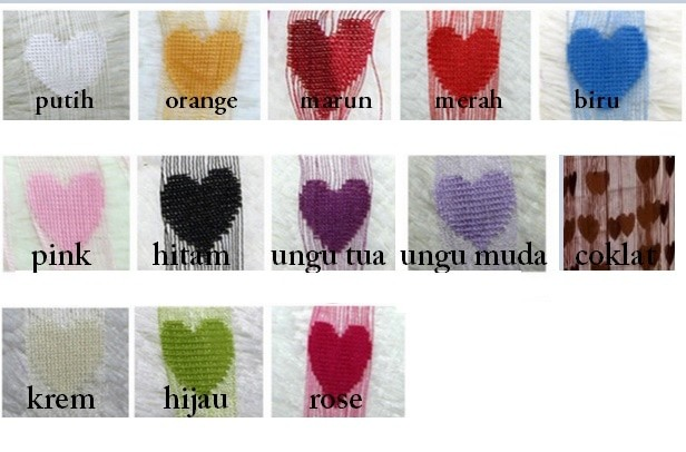 Tirai Benang Motif Love - Tirai Nyamuk Modern Style Gorden Motive Love .