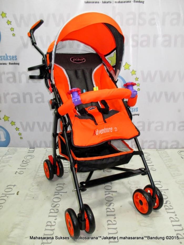 harga Pliko Pk108 Adventure-2 Buggy Baby Stroller 3 Posisi New Born-3 Tahun Tokopedia.com