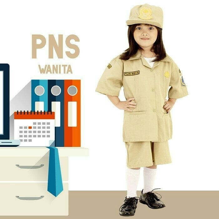 Seragam profesi anak pns wanita / baju profesi anak pns rok