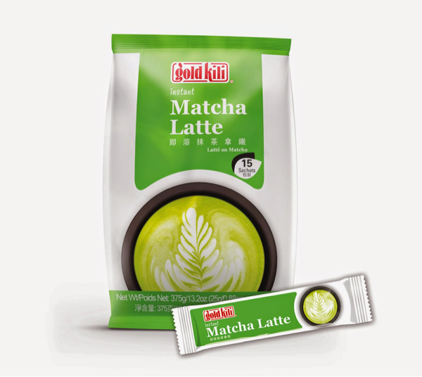 Gold kili matcha latte green tea latte