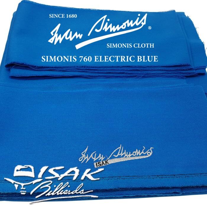 harga Simonis 760 el blue 9 ft - kain laken meja biliar billiard pool cloth Tokopedia.com