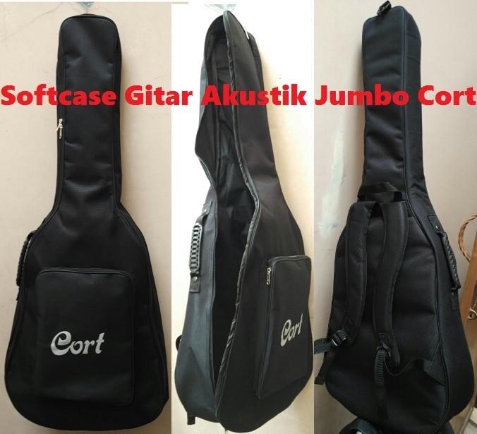 harga Tas gitar akustik / softcase gitar akustik cort jumbo Tokopedia.com