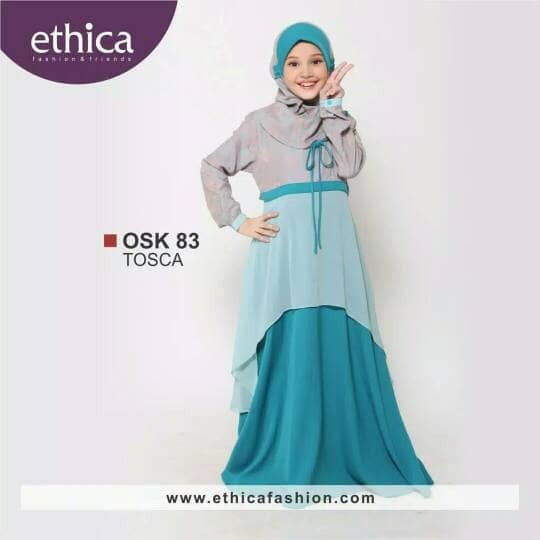 Gamis Anak Ethica OSK 83 tosca No.0