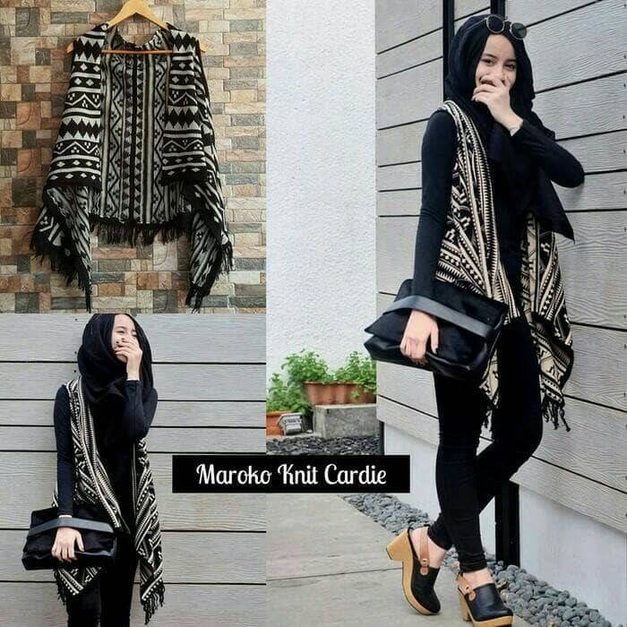 Baju rajut wanita korea maroko knite cardy murah