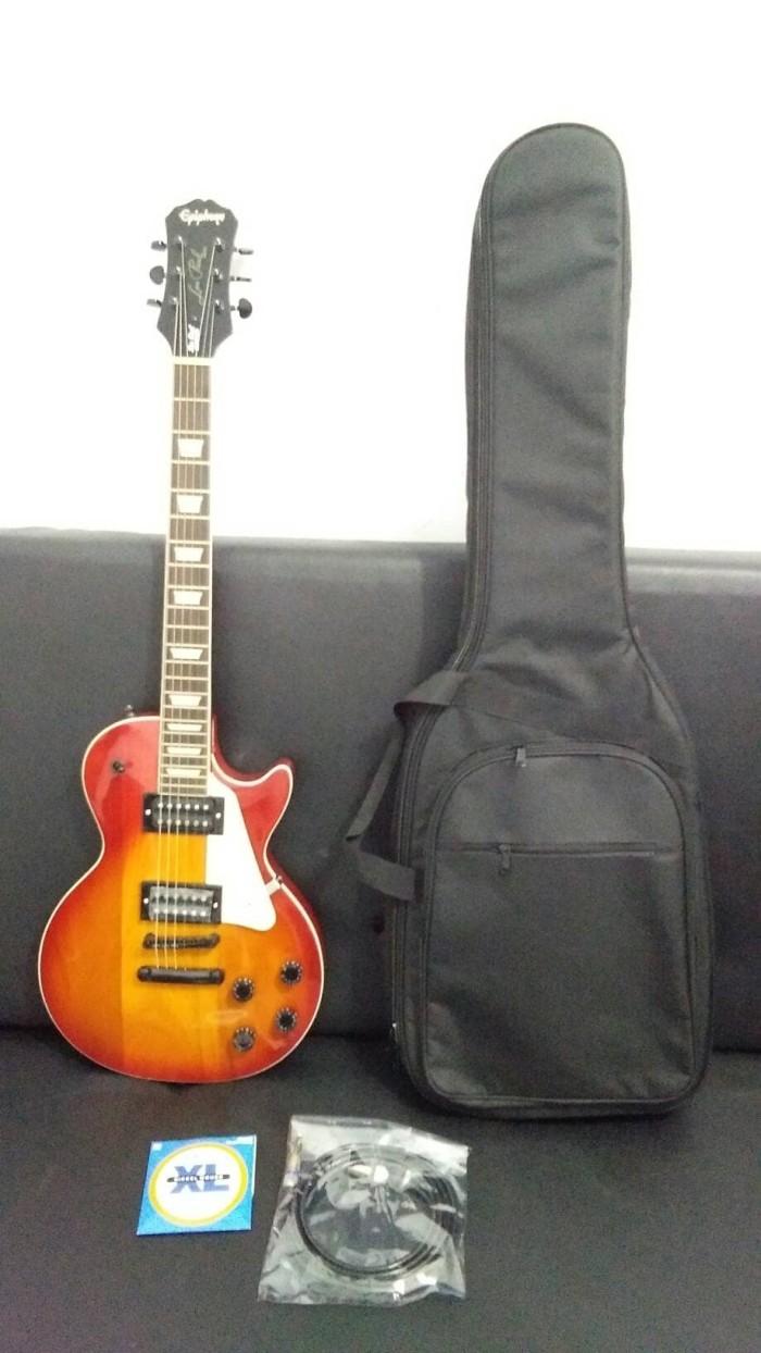 harga Gitar epiphone lp cery + gigbag + kabel jack + senar Tokopedia.com