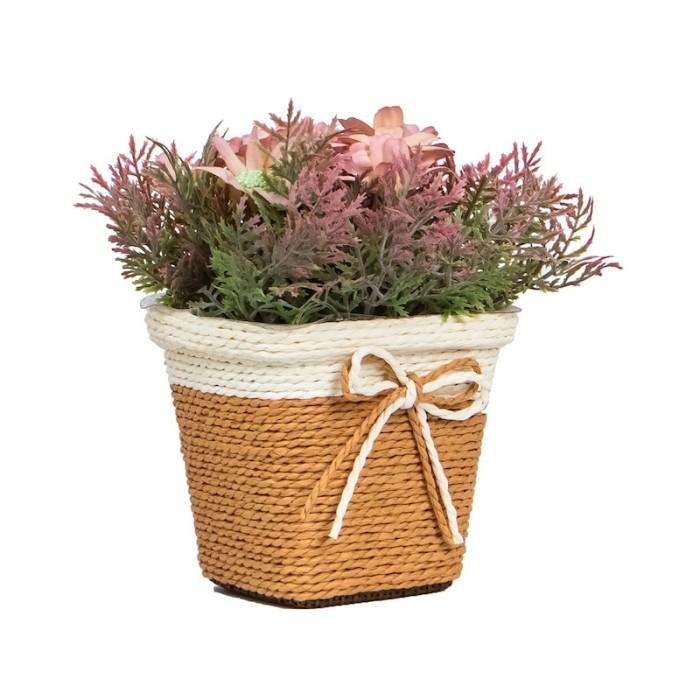 Doloupa pink | vas pot bunga plastik artificial hiasan interior…