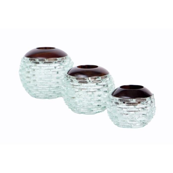harga Tual   tempat lilin candle holder pajangan hiasan kayu interior kaca Tokopedia.com