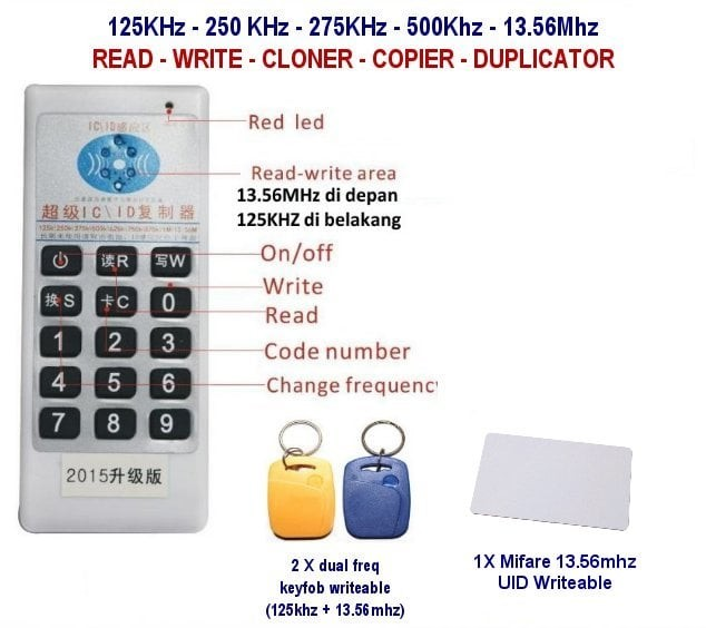 harga Multi frequenci rfid reader writer copier duplicator 125khz 13.56mhz Tokopedia.com