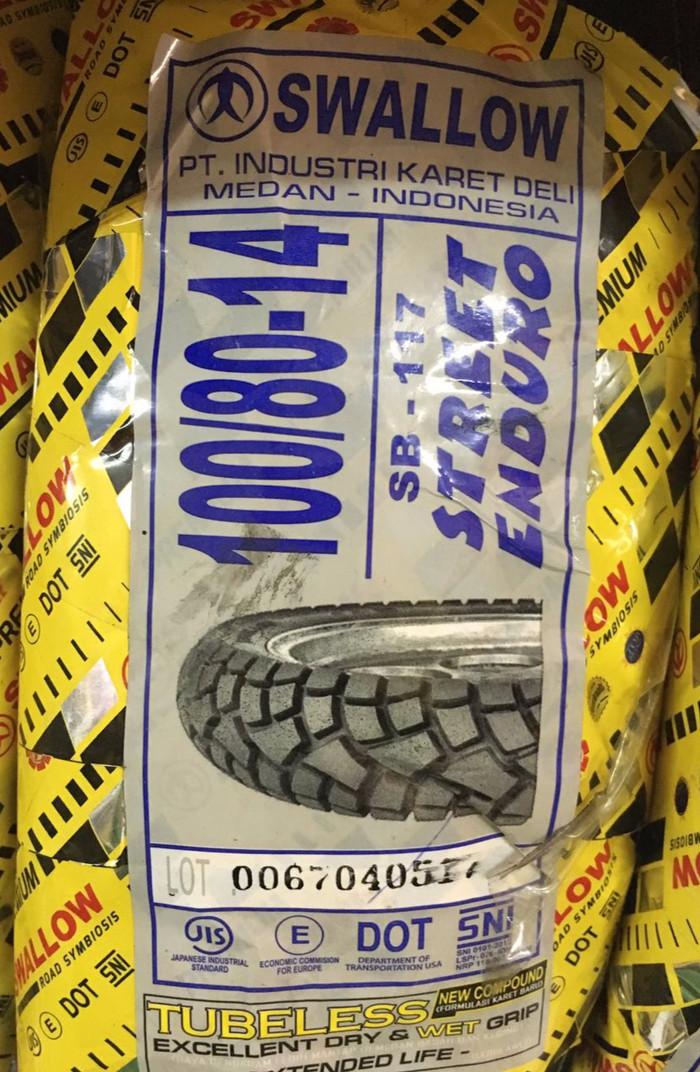 harga Swallow sb117 (street enduro) ukuran 100/80-14 Tokopedia.com