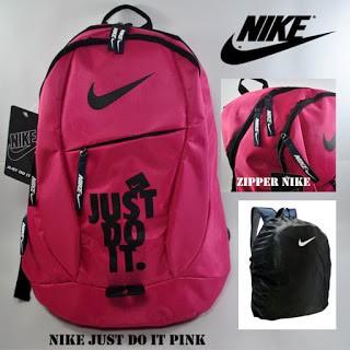 harga Tas ransel bola nike just do it pink + pelindung hujan Tokopedia.com