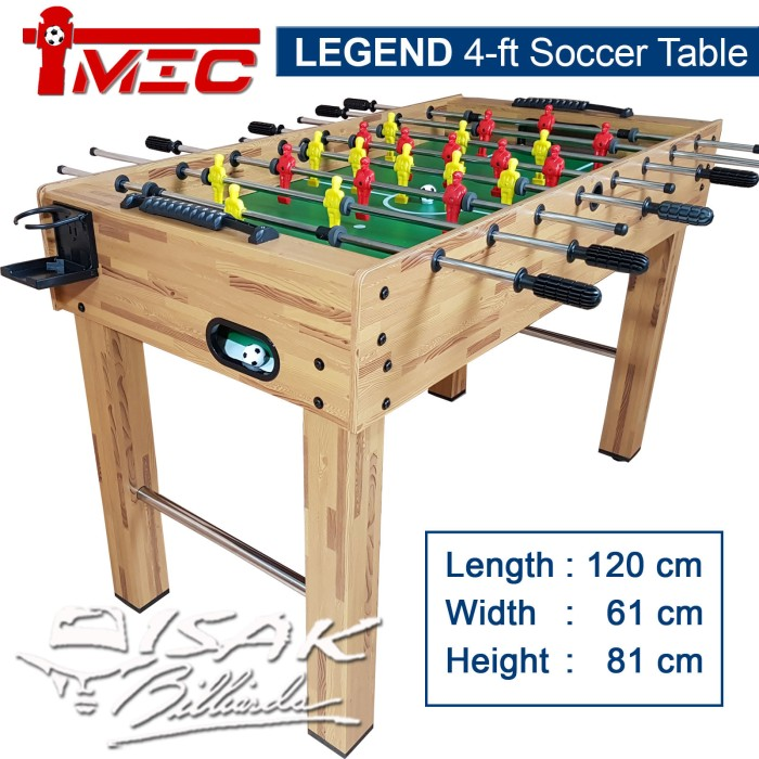 harga Soccer table 4 ft - mic legend series meja foosball mainan hadiah anak Tokopedia.com
