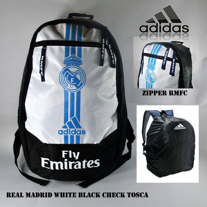 harga Tas ransel bola real madrid putih hitam tosca Tokopedia.com