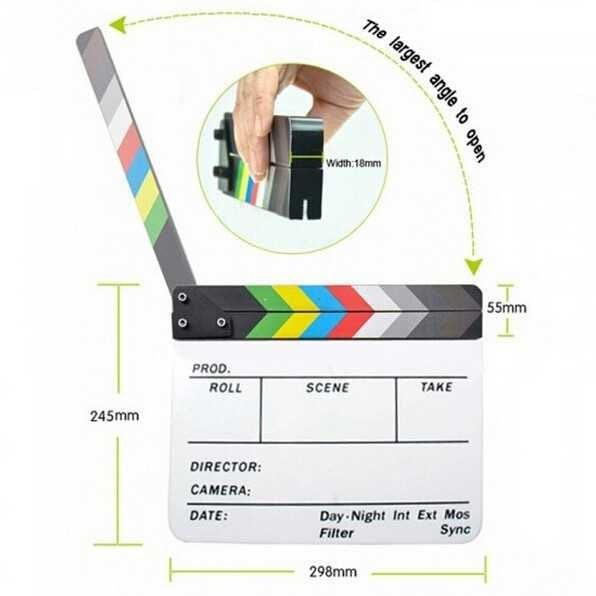 harga profesional clapper board colorful acrylic Tokopedia.com