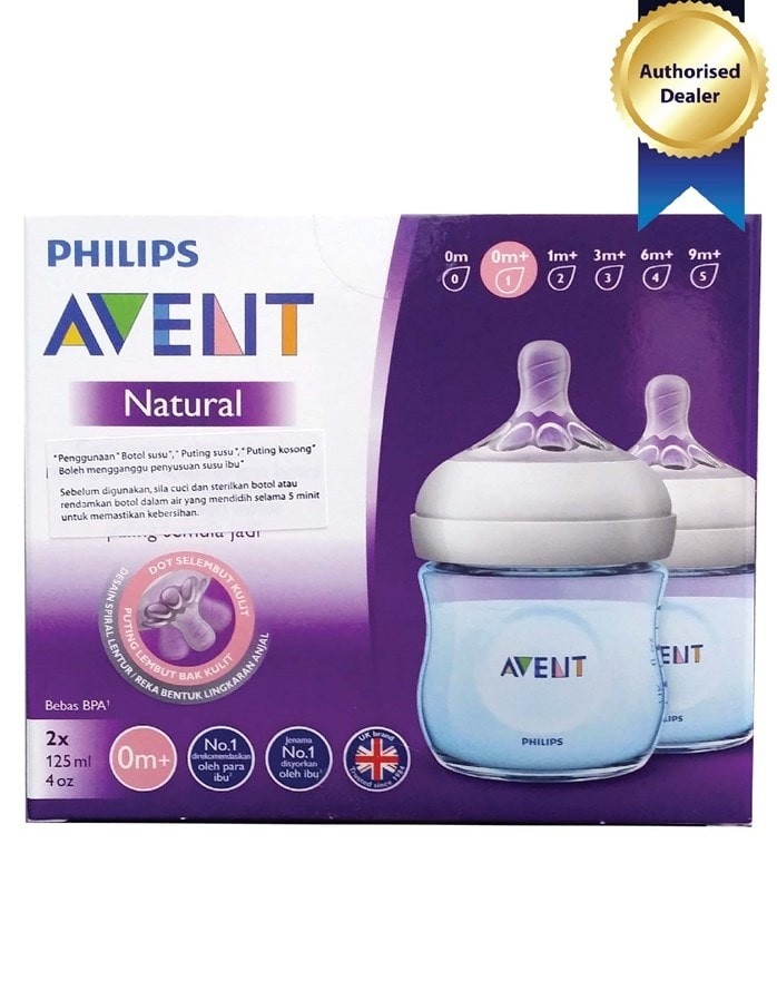 Jual Philips Avent Botol Natural 125ml 2 Pcs Biru 0 Months Harga Rp