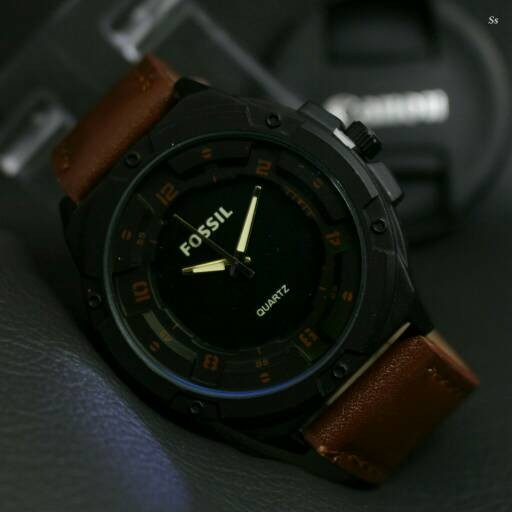 harga Fossil sport jam tangan pria/cowok tali kulit Tokopedia.com