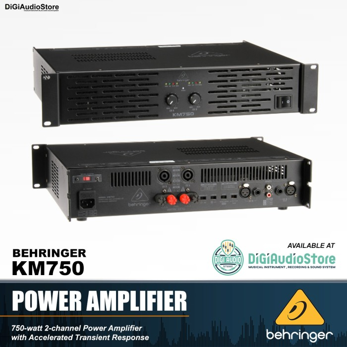 harga Behringer km750 km 750 power amplifier / ampli speaker pasif 750 watt Tokopedia.com