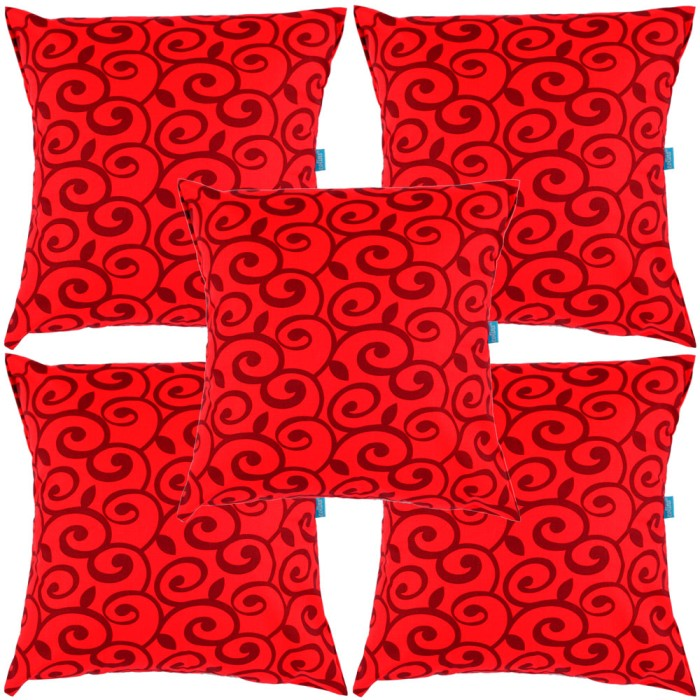 Eolins 5 Sarung Bantal Sofa Batik Ulir JSPS063 Merah