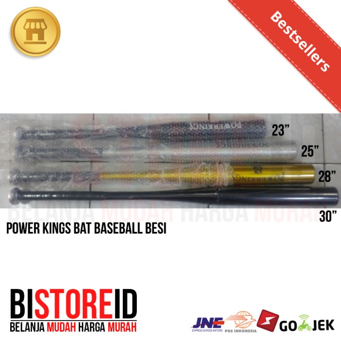 Bat tongkat baseball besi power kings 23 inch 58.4 cm