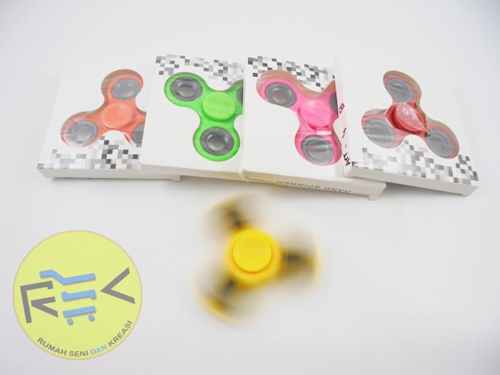 Jual Mainan Fidget Spinner Warna Polos pemberat Besi - Rumah ... 4103730ceb