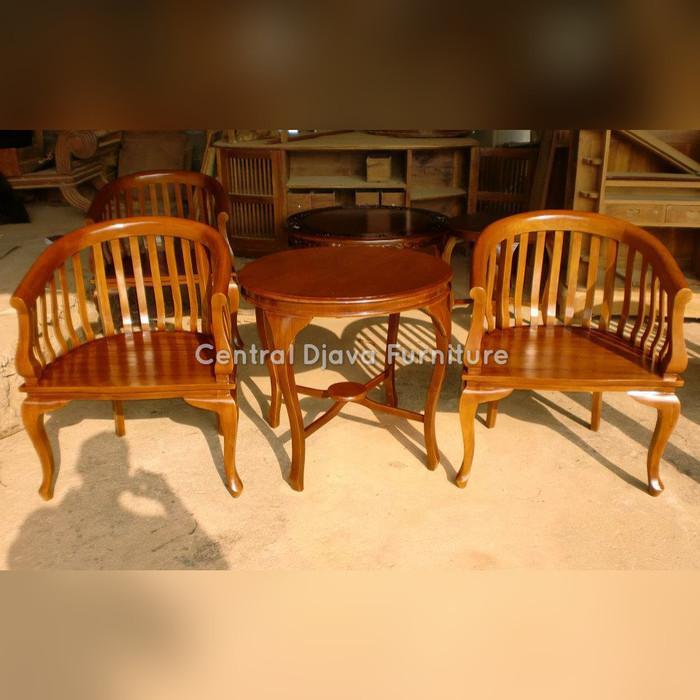 harga Kursi & meja teras betawi gelung kayu jati minimalis furniture jepara Tokopedia.com