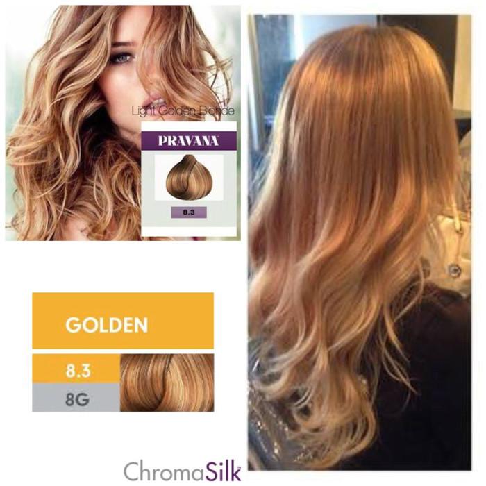 Jual Pravana Golden Light Golden Blonde 83 8g Hair Color Cat Rambut Pirang Lynnparrot Silkypetshop Tokopedia