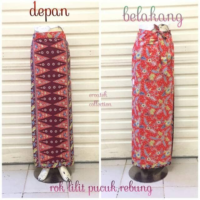 harga Rok lilit batik rlt01 motif tumpal pucuk rebung batik betawi   seragam Tokopedia.com