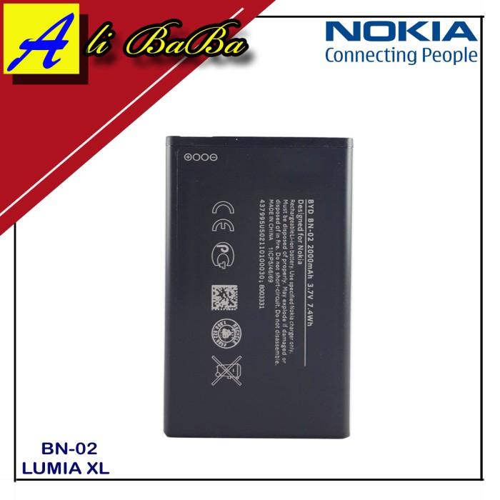 harga Baterai handphone nokia bn-02 nokia lumia xl batre hp battery nokia Tokopedia.com