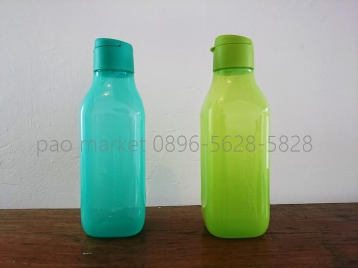 Tupperware Eco Square Bottle 1 Liter Tutup Flip Top ( 1 Set Isi 2 ) ...