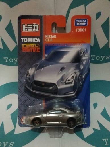 Tomica cool drive - nissan gt-r - silver