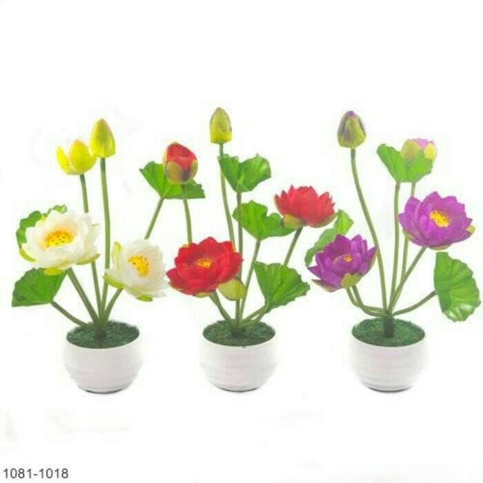 harga Bunga teratai/bunga teratai plastik/hiasan teratai/lotus/bunga hias Tokopedia.com