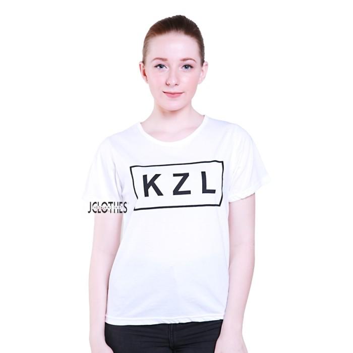 Kaos Wanita / Tumblr Tee Lengan Pendek KZL - Putih