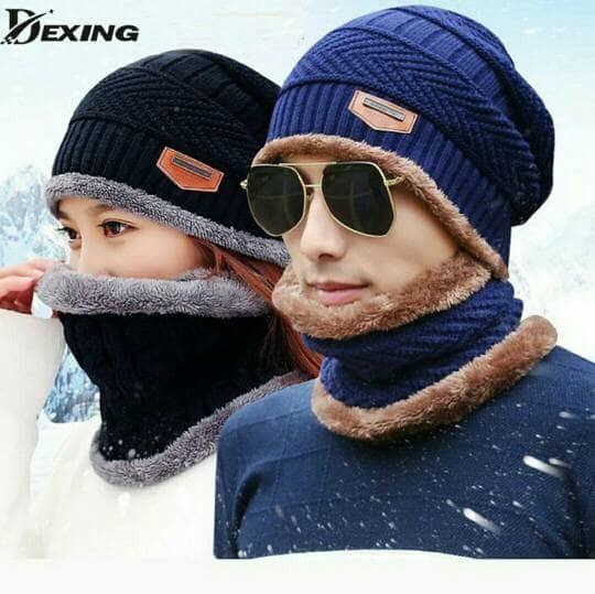 Jual Topi kupluk wool rajut musim dingin - Winter hat cap unisex ... a9b4fba49f