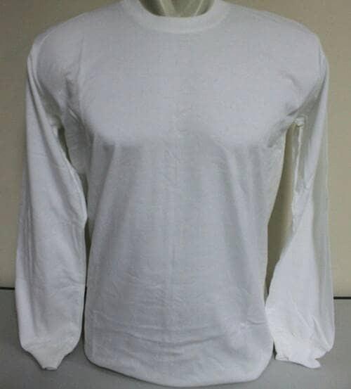 Jual Kaos Polos Lengan Panjang Warna Putih Size M Kota Bandung Kepolosan Bandung Tokopedia