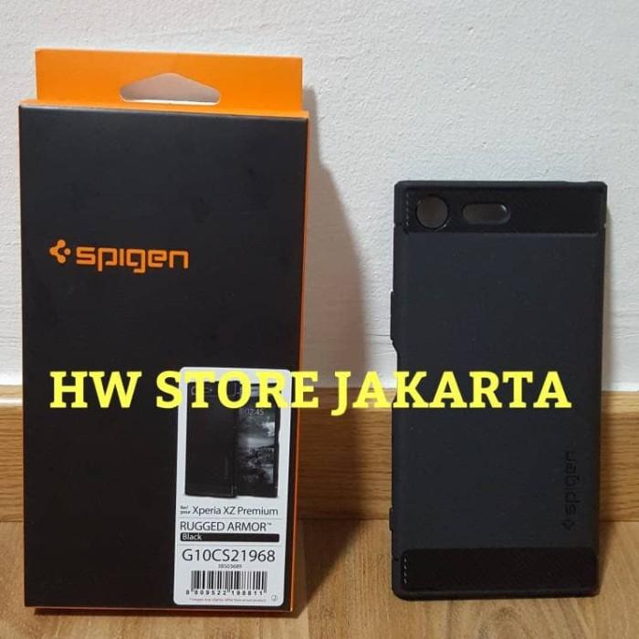 new styles 8f31e bb8c2 Jual ORIGINAL SPIGEN RUGGED ARMOR CASE SONY XPERIA XZ PREMIUM - BLACK -  Jakarta Utara - HW Store Jakarta | Tokopedia