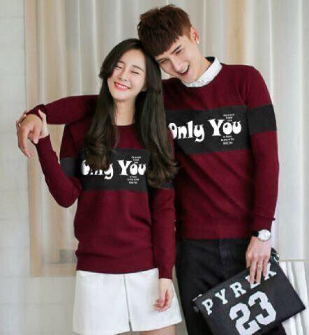 harga Sweater Couple Lp Only You (maroon) Tokopedia.com