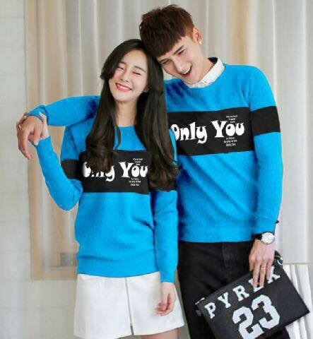 harga Sweater Couple Lp Only You (biru) Tokopedia.com