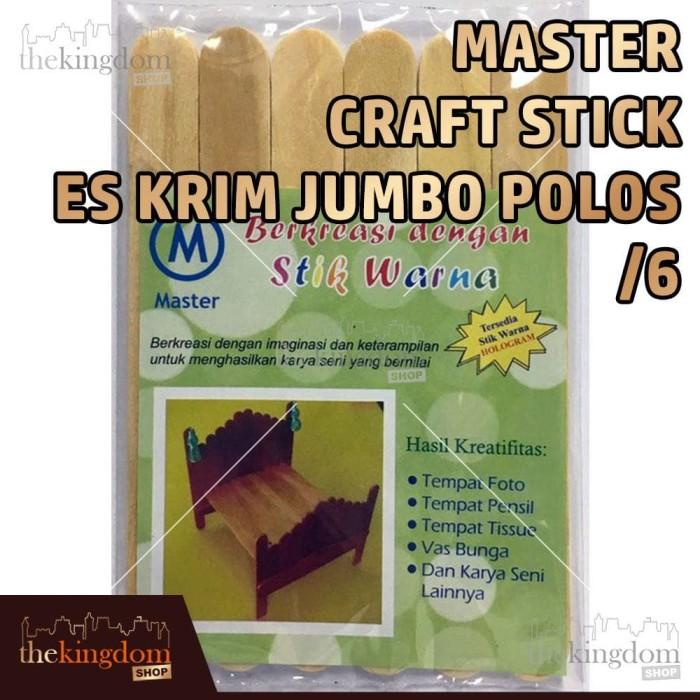 Master Craft Stick Es Krim Jumbo Polos / Stik Kayu