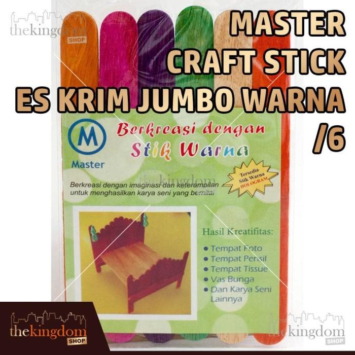 Master Craft Stick Es Krim Jumbo Warna / Stik Kayu