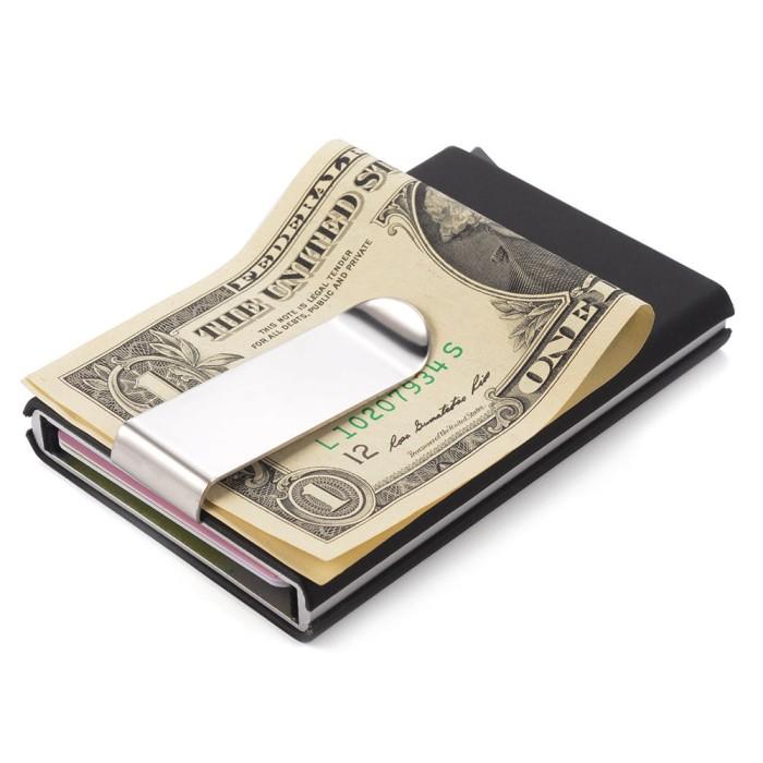 Pop Up Aluminum Business Card Holder